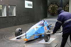 Swift in MIRA wind tunnel